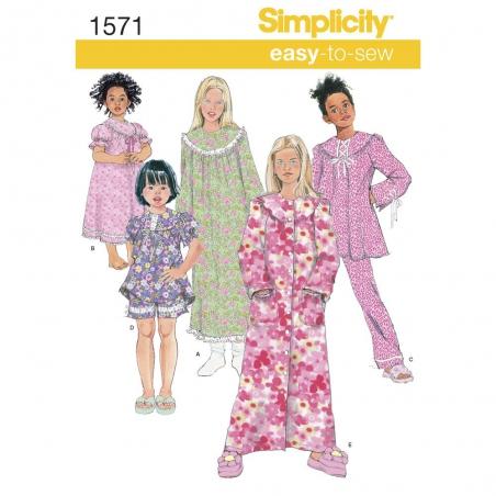 1571 simplicity girls pattern 1571 envelope front