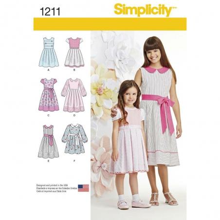 1211 simplicity girls pattern 1211 envelope front