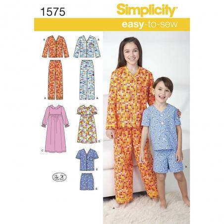 1575 simplicity girls pattern 1575 envelope front