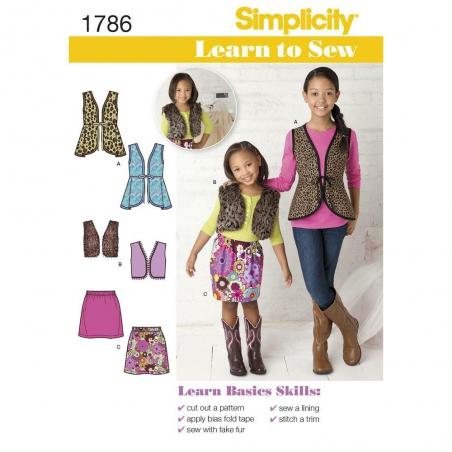 1786 simplicity girls pattern 1786 envelope front