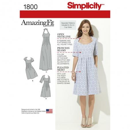1800 simplicity dresses pattern 1800 envelope fron
