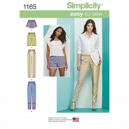 simplicity skirts pants pattern 1165 envelope