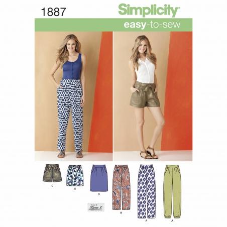 simplicity skirts pants pattern 1887 envelope