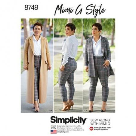 9 simplicity mimi g wool coat pants pattern 87