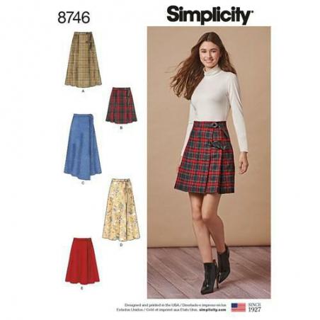 1 simplicity tie waist skirt pattern 8746 enve