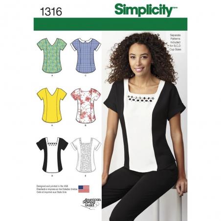 1316 simplicity tops vests pattern 1316 envelope f