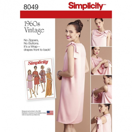 8049 simplicity dresses pattern 8049 envelope fron