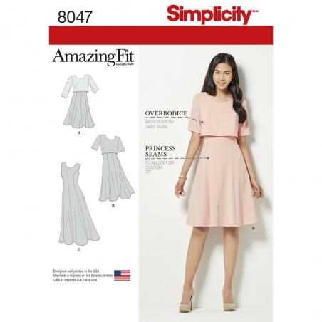 8047 simplicity dresses pattern 8047 envelope fron