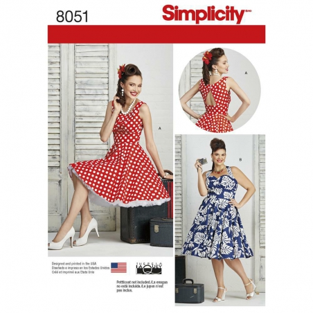 8051 simplicity dresses pattern 8051 envelope fron