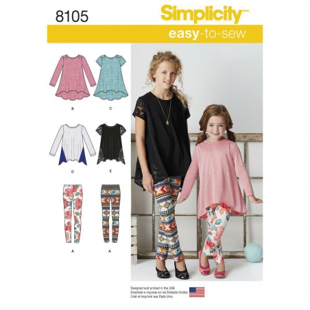 8105 simplicity girls pattern 8105 envelope front