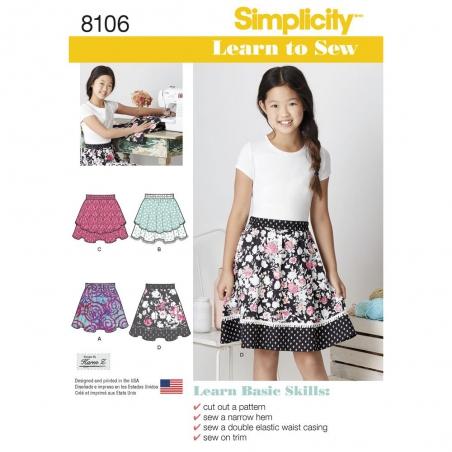 8106 simplicity girls pattern 8106 envelope front