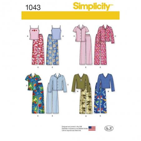 1043 simplicity girls pattern 1043 envelope front