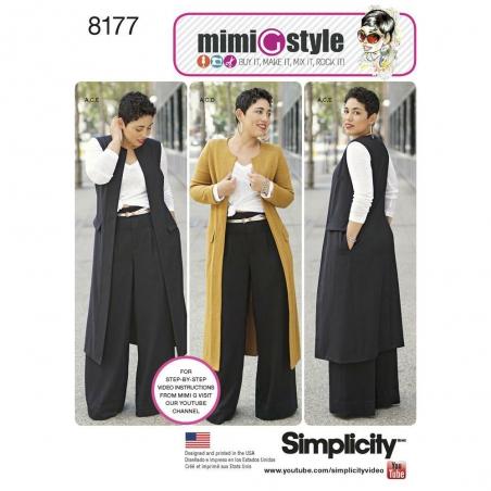 8177 simplicity sportswear pattern 8177 envelope f