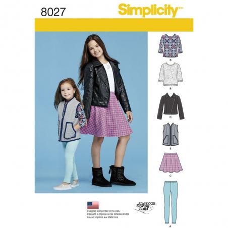 8027 simplicity girls pattern 8027 envelope front