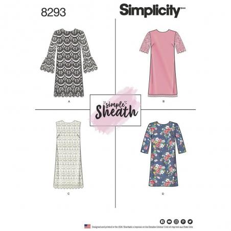 8293 simplicity dress pattern 8293 envelope front