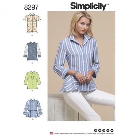8297 simplicity top vest pattern 8297 envelope fro