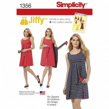 1356 simplicity dresses pattern 1356 envelope fron