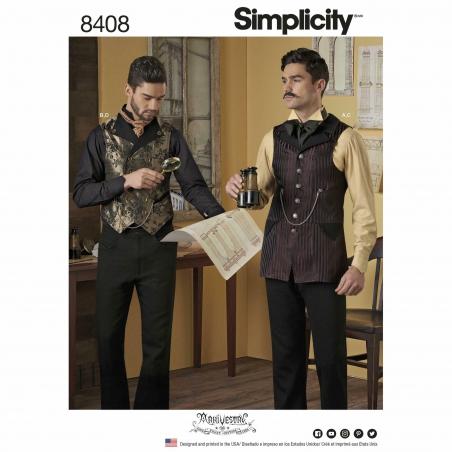 6simplicity mens vest shirt costume arkivestry