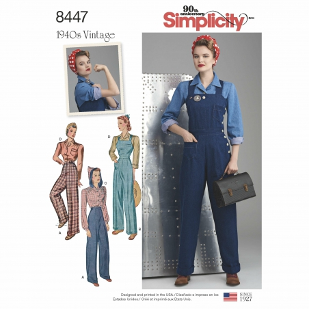 5simplicity vintage 1940s overalls pattern 844