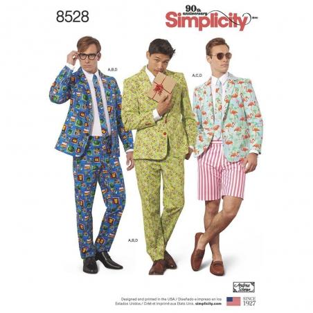 8528 simplicity crazy suit pattern 8528 envelope f