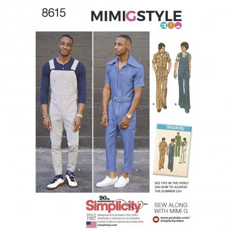 8615 simplicity mimig vintage mens romper pattern