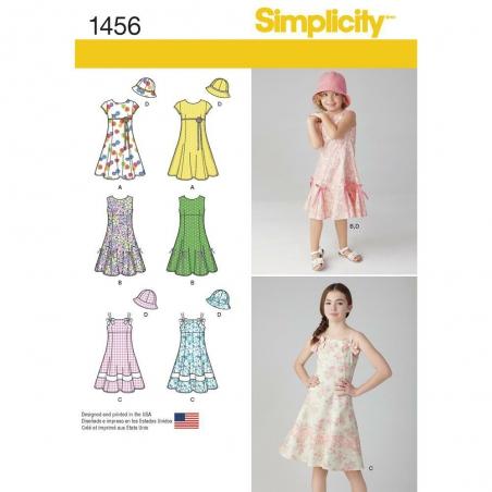 1456 simplicity girls pattern 1456 envelope front