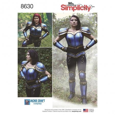 8630 simplicity cosplay armor pattern 8630 envelop