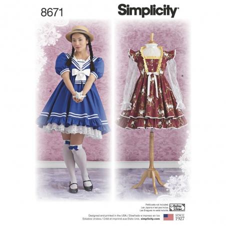 8671 simplicity lolita pattern 8671 envelope front