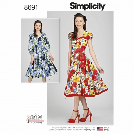 Simplicitysimplicity sew chic dress pattern 86