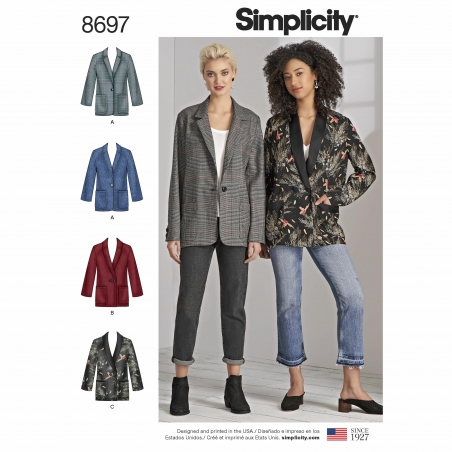 simplicity boyfriend blazer pattern 8697 envel