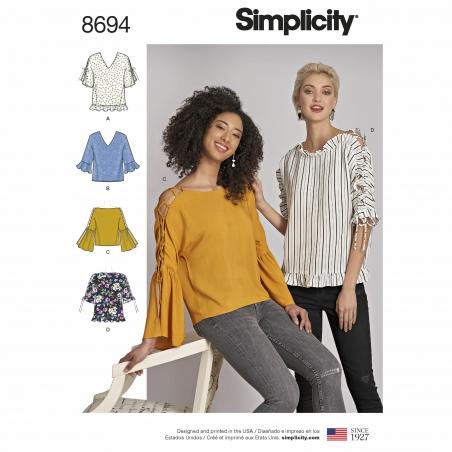simplicity sleeve interest top pattern 8694 e