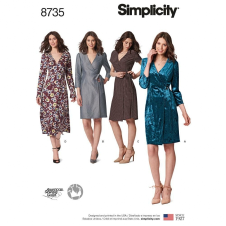 8735 simplicity wrap dress pattern 8735 envelope f