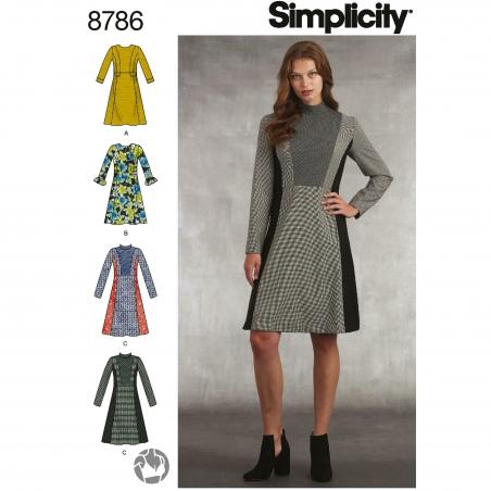 1simplicity plaid dress pattern 8786 envelope