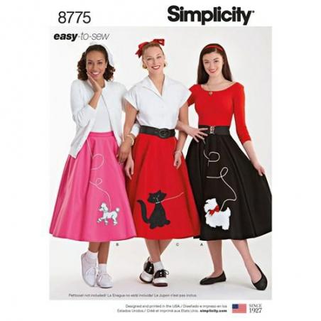 7 simplicity rockabilly poodle skirt easy patt
