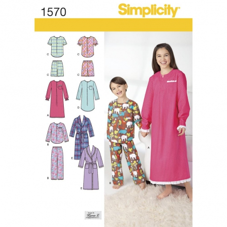 1570 simplicity girls pattern 1570 envelope front