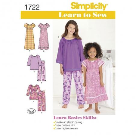 1722 simplicity girls pattern 1722 envelope front