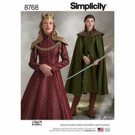 8 simplicity womens fantasy coat pattern 8768