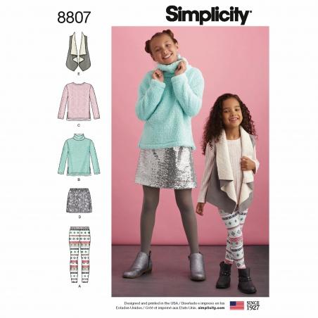 4simplicity child girl fuzzy sweater vest patt