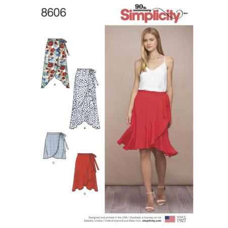8606 envelope front Simplicity