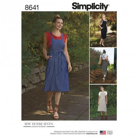 8641 simplicity bib dress pattern 8641 envelope fr
