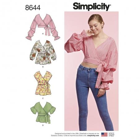 8644 simplicity wrap top 8644 envelope front
