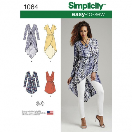 1064 simplicity tops vests pattern 1064 envelope f