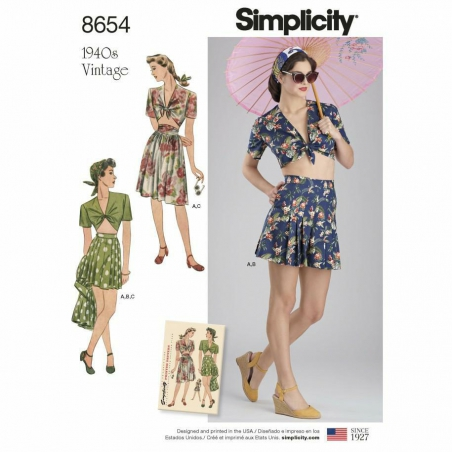 Simplicity  8654 envelope front