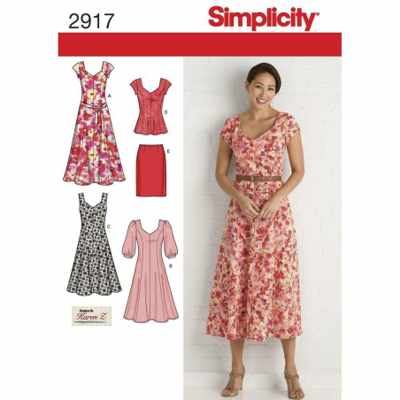 2917 simplicity dresses pattern 2917 envelope fron