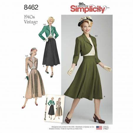 5simplicity 1940s vintage separates pattern 84