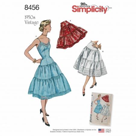 5simplicity 1950s vintage slip petticoat patte