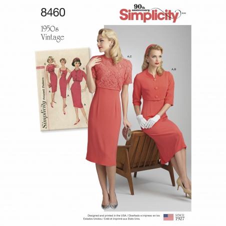 6simplicity 1950s vintage sheath dress jacket