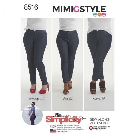 8516 simplicity denim pattern 8516 envelope front