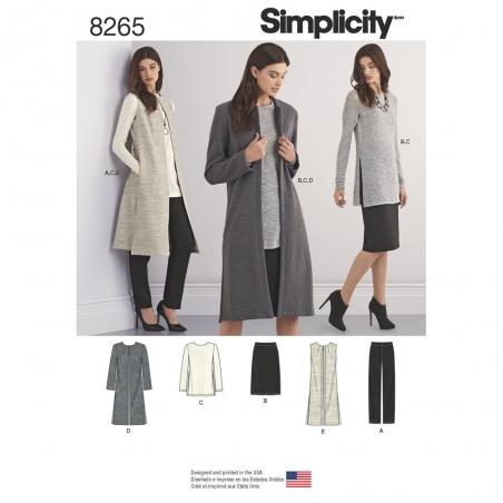 8265 simplicity sportswear pattern 8265 envelope f