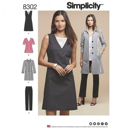 8302 simplicity sportswear pattern 8302 envelope f